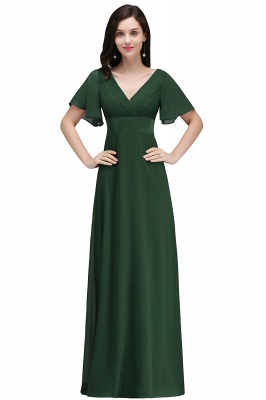 COLETTE | A-line Floor-length Chiffon Burgundy Prom Dress with Soft Pleats_6
