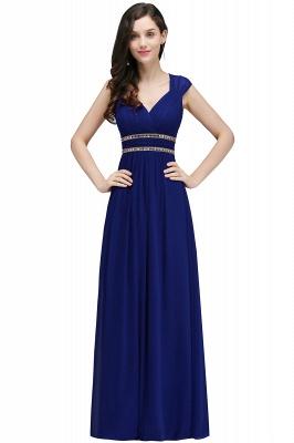 ALISON | Sheath V Neck Burgundy Chiffon Long Evening Dresses With Beads_4