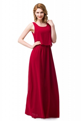 HARLEE | A-line Square Floor-length Chiffon Bridesmaid Dresses_7