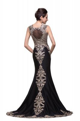 Elegante Schwarze Abendkleider Lang Günstig | Abendmoden Online Kaufen_3