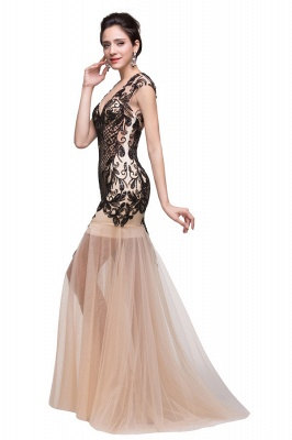 Floor-length Champagne Prom Dresses With Applique