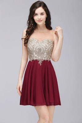 ALIANNA | Sheath Jewel Chiffon Short Homecoming Party Dresses With Applique_1