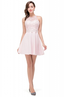 HARMONI | Cute A-line Crew Mini Bridesmaid Dresses With Applique_1