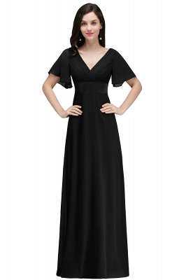 COLETTE | A-line Floor-length Chiffon Burgundy Prom Dress with Soft Pleats_5