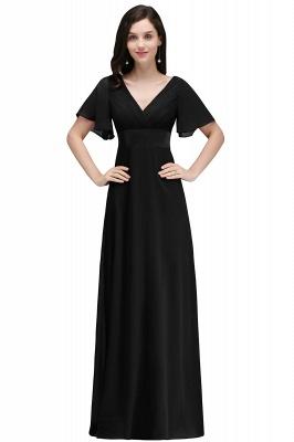 COLETTE | A-Linie bodenlanges Chiffon Burgund Prom Kleid mit weichen Falten_5