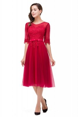 Sleeve Sashes Bridesmaid Dresses With Applique