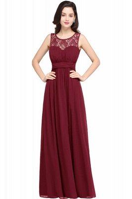 Jewel Long gaine en mousseline de soie-parole longueur manches en dentelle sexy robe de soirée_2