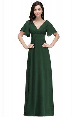 COLETTE | A-Linie bodenlanges Chiffon Burgund Prom Kleid mit weichen Falten_6