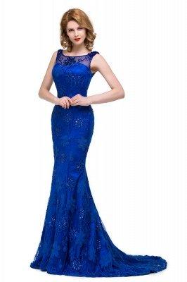 GWEN | Mermaid Bateau Sweep-length Form Dresses With Applique Crystal_8
