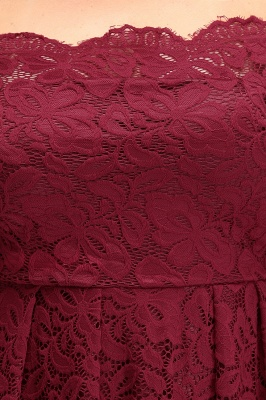 JASMIN | A-Line Off-Shoulder Short Lace Burgundy Plus size homecoming Dresses_10