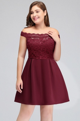 short lace plus size homecoming dress