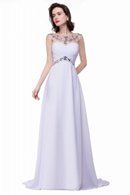 AINSLEY | A-line Sweetheart Chiffon Evening Dress With  Crystal_7