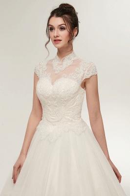 Elegantes Brautkleid Schlicht Modern Online Kaufen | Hochzeitskleider Weiss MIt Tüll Und Spitze_8
