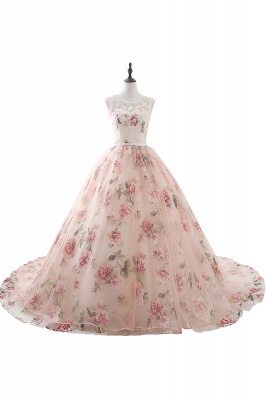 ALIA | Ball Gown Sweetheart Vintage Organza Evening Dresses With Print_1