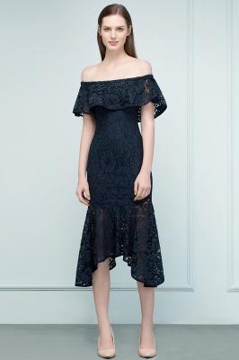 VERENA | Vestidos de fiesta de encaje negro de la longitud del té de la sirena fuera del hombro_4