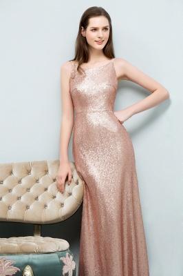 JOSIE   A-line Scoop Sleeveless Floor Length Sequined Prom Dresses