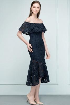 VERENA | Vestidos de fiesta de encaje negro de la longitud del té de la sirena fuera del hombro_5