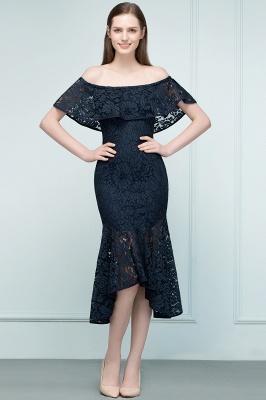 VERENA | Mermaid Off-shoulder Tea Length Black Lace Prom Dresses_2