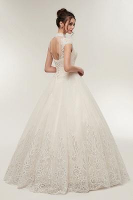 Elegantes Brautkleid Schlicht Modern Online Kaufen | Hochzeitskleider Weiss MIt Tüll Und Spitze_6