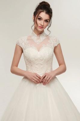 Elegantes Brautkleid Schlicht Modern Online Kaufen | Hochzeitskleider Weiss MIt Tüll Und Spitze_7