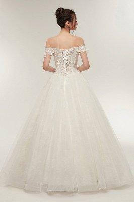 ZOLA | A-line Off-плечо Милая Длина пола Кружева Appliques Свадебные платья с Lace-up_2