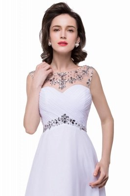 AINSLEY   A-ligne chérie robe de soirée en mousseline de soie avec cristal_8