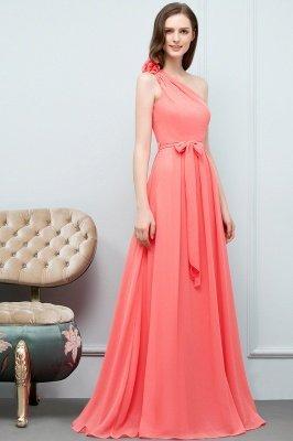 VALERIEN | A-Linie eine Schulter bodenlangen Chiffon Prom Kleider mit Bogen Schärpe_5