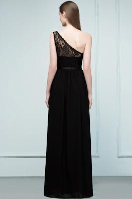 SYBIL | A-line одно плечо длиной до пола, кружева, шифон, платья невесты с поясом_3