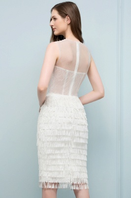SIGRID | Mermaid Sleeveless Crew Knee Length Prom Dresses with Tassels