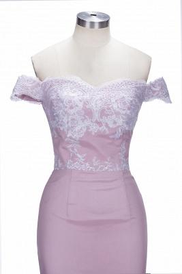 VIRGINIA | Meerjungfrau Off-the-Shoulder-Spitze Applikationen Blushing Pink Prom Kleider_5