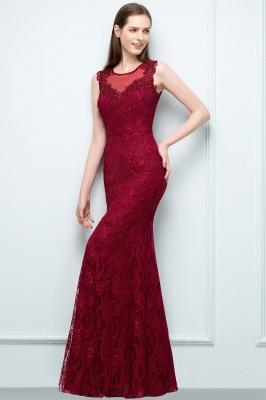 SUSAN | Mermaid Floor Length Sleeveless Lace Burgundy Prom Dresses_6