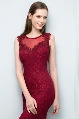 SUSAN | Mermaid Floor Length Sleeveless Lace Burgundy Prom Dresses_8