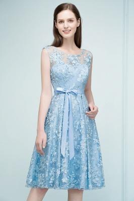 RENATA | A-line Sleeveless Knee Length Appliques Homecoming Dresses with Robbin Sash_8