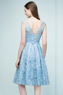 RENATA | A-line Sleeveless Knee Length Appliques Homecoming Dresses with Robbin Sash_3