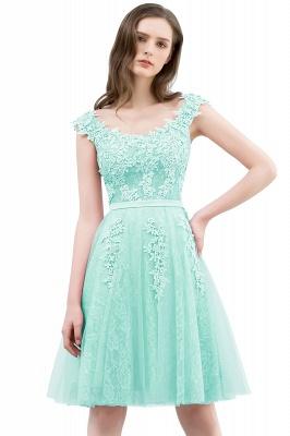 WILMA | Vestido de bola Illusion escote longitud de té encaje Tul Dusty Pink Prom Vestidos con abalorios_7
