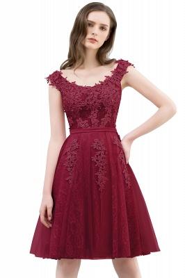 WILMA | Vestido de bola Illusion escote longitud de té encaje Tul Dusty Pink Prom Vestidos con abalorios_2