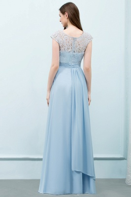 SHIRLEY | A-line Long Cap Sleeves Lace Top Chiffon Bridesmaid Dresses_3