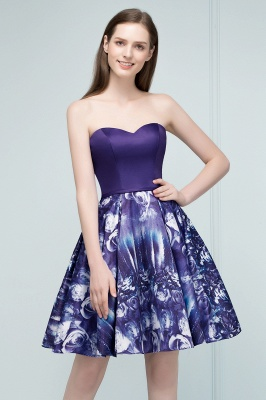 RICARDA | A-line Strapless Sweetheart Short Print Homecoming Dresses_6