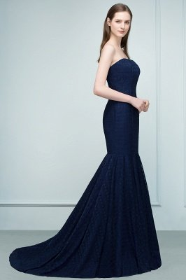 RAMONA | Mermaid Strapless Floor Length Lace Prom Dresses