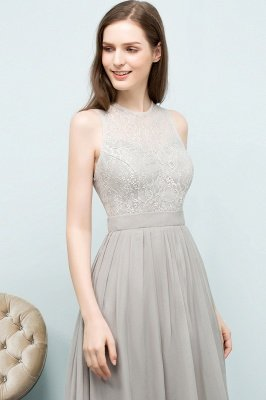 SILVIA | A-line Sleeveless Long Lace Top Chiffon Bridesmaid Dresses_8
