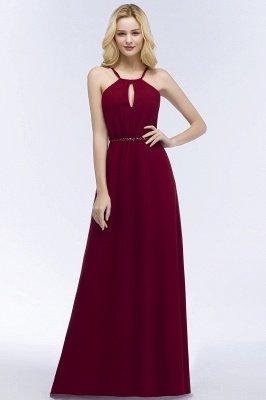 ROMA | Vestidos de dama de honor de espagueti de escote redondo con escote palabra de honor_5