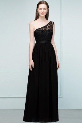 سيبيل | A- لاين أميرة بكتف واحد الطول الأرضي شيفون فستان وصيفة الشرف مع وشاحات_5