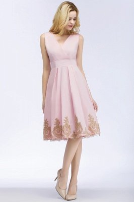 ROSEANNE | A-line V-neck Knee Length Sleeveless Appliques Homecoming Dresses_3