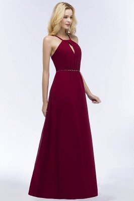ROMA | Vestidos de dama de honor de espagueti de escote redondo con escote palabra de honor_6