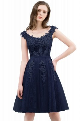 WILMA | Ball Gown Illusion Neckline Tea Length Lace Tulle Dusty Pink Prom Dresses with Beading_5