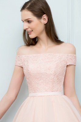 SOPHIA | A-line Off-shoulder Short Lace Chiffon Homecoming Dresses_7