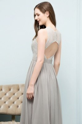 SILVIA | A-line Sleeveless Long Lace Top Chiffon Bridesmaid Dresses_6