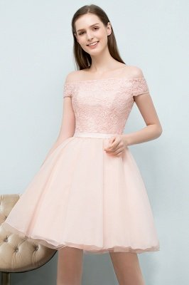 SOPHIA | A-line Off-shoulder Short Lace Chiffon Homecoming Dresses_8