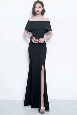 Mermaid Off-the-shoulder Long Slit Formal Evening Gowns/Prom Dresses_3