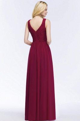 PATIENCE | A-line Floor Length V-neck Sleeveless Ruffled Chiffon Bridesmaid Dresses_3